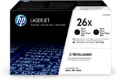 HP 26X Toner Cartridge / Zwart / Dual Pack