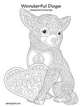 Wonderful Dogs Coloring Book for Grown-Ups