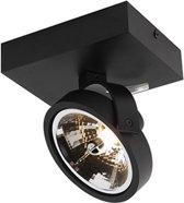 QAZQA Go 1 - Wand en plafond spot - 1 Lichts - 14,7 cm - zwart