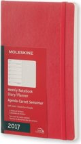 Moleskine Agenda 2017 12 Months Planner Weekly Notebook Large Scarlet Red Soft Cover