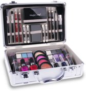 Complete Make-Up Cosmetica Koffer Met Make Up Inhoud - Luxe Beauty Visagie Doos Case Kist - Aluminium