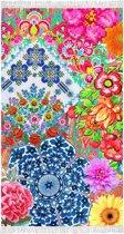 Kleurrijke Fluweel Zachte Velours Strandlaken Met Fransjes   100x180   Droogt Snel   Vochtabsorberend
