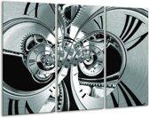 Glas schilderij Abstract   Grijs, Zwart, Groen   120x80cm 3Luik   Foto print op Glas    F006434