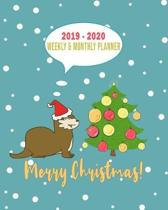 2019 - 2020 Weekly & Monthly Planner Merry Christmas!: Weekly Planner(From November 2019 Through December 2020)-Planner Schedule Monthly & Weekly with