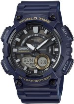 Casio AEQ-110W-2AVEF - Horloge - Kunststof - Blauw - Ø 47 mm