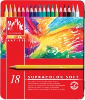 Kleurpotlood caran d'ache supracolor 18 st ass