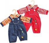 Poppen Tuinbroek met Shirt, 28-33 cm Afmeting artikel: lengte 28 cm, geschikt voor poppen van 28-33 cm
