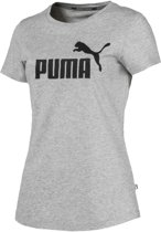 PUMA ESS Logo Tee Shirt Dames - Light Gray Heather - Maat S