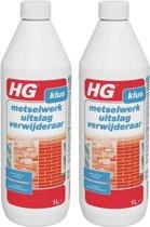 HG metselwerkuitslag verwijderaar Eenvoudige en grondige verwijdering - 2 Stuks !