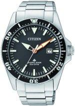 Citizen Promaster Diver - Polshorloge - Staal - 41 mm - Zilverkleurig / Zwart - Solar uurwerk
