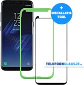 Samsung Galaxy S8 Case Friendly Glazen Screenprotector (ZWART) | Tempered glass | Gehard glas (+ INSTALLATIE-TOOL)