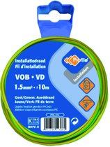 PROFILE installatiedraad VOB (België) VD (Nederland) - 1,5mm² - groen/geel - 10 meter