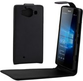 Microsoft Lumia 950 zwart flip tasje hoesje