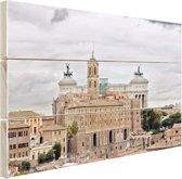 Het oude Rome Hout 30x20 cm - klein - Foto print op Hout (Wanddecoratie)