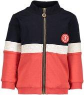 9fbc6675b1cc6e Jongens truien   vesten Like Flo Flo baby boys colour block zipper ca rood  86