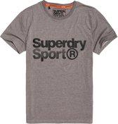 Superdry Shirt - Maat L  - Mannen - grijs/ zwart