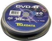 Traxdata DVD+R 10pk 4.7GB DVD+R 10stuk(s)