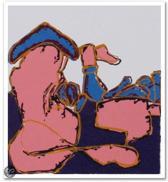 Claudia Hoffman Schilderij Zeefdruk 'Zonder titel' (20x20)