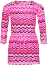 Mim-pi Meisjes Jurk - Roze met multicolor - Maat 140