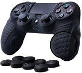 Silicone Bescherm Hoes Case Skin met Thumbnails voor PS4 Controller – Accessoires Set voor Playstation 4 Controller Zwart