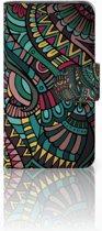 Samsung Galaxy Core i8260 Bookcase hoesje Design Aztec