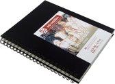 Talens Art Creation schetsboek - zwart - A4 - ringband - wit papier