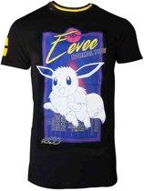 Pok�mon Heren Tshirt -2XL- City Eevee Zwart