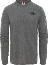 The North Face LS Simple Dome Tee Heren Shirt - TNF Medium Grey Heather - Maat L