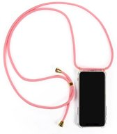 Iphone 11 - hoesje iphone 11 apple - Iphone xr hoesje - telefoonhoesje - transparant - verstelbaar koord (lengte 165cm) - roze - goudkleurig
