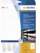HERMA Zelfkl. etiketten A4 192x10 mm wit 675 St.