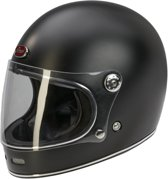 Barock Retro B510 Integraalhelm - Mat zwart - Scooterhelm - Motorhelm - S