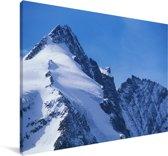 De Oostenrijkse Grossglockner met bergen in Europa Canvas 30x20 cm - klein - Foto print op Canvas schilderij (Wanddecoratie woonkamer / slaapkamer)