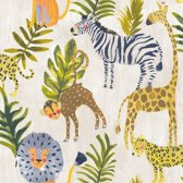 Little Ones Jungle beige/groen/geel