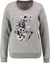 Garcia zachte grijze sweater met pailletten - Maat S
