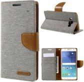 Mercury Goospery - Samsung Galaxy J5 (2016) Hoesje - Wallet Case Canvas Grijs