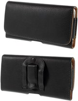 Leren flip wallet hoesje + clip broekclip riem Samsung Galaxy A50