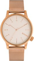 Komono Winston Royale Rose Gold White horloge dames en heren - ros� - metaal