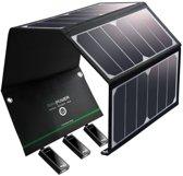 RAVPower 24W Zonnepaneel oplader met 3 USB poorten