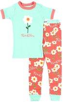 Kinderpyjama Rise & Shine mint groen met bedrukte broek - 128