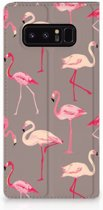 Samsung Galaxy Note 8 Uniek Standcase Hoesje Flamingo
