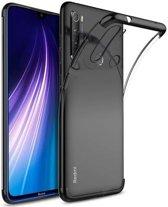 Teleplus Xiaomi Redmi Note 8T Case Luxury Laser Silicone Black + Nano Screen Protector hoesje