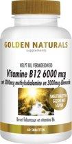 Golden Naturals Vitamine B12 6000 mcg (60 smelttabletten)