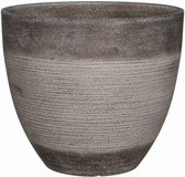 Mica Decorations Echo ronde pot taupe maat in cm: 27 x 31