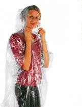 Fun & Feest Poncho - Transparant - One size