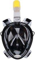 Snorkelmasker / Snorkelbril Zwart X-treme Quality + Aansluiting voor Actiecamera zoals GoPro Hero 1 , 2, 3, 3+, 4 & 5 - Maat S/M