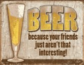 Wandbord - beer interesting -30x40 cm-