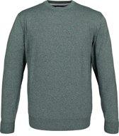 Redmond heren trui katoen - O-hals - groen melange -  Maat XL