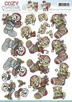 3D Knipvel - Yvonne Creations - Cozy Christmas - Xmas Stocking