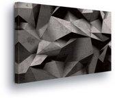 Modern Origami Art Canvas Print 60cm x 40cm
