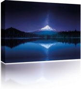 Sound Art - Canvas + Bluetooth Speaker Mountain Reflection At Night (23 x 28cm)